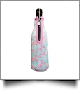 The Floridian Series 12oz Long Neck Zipper Neoprene Bottle Koozie - LOVELY LOBSTERS