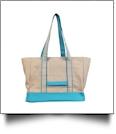 Gameday EasyStitch Insulated Tote Bag - AQUA - CLOSEOUT