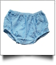 Gingham Diaper Cover - TURQUOISE