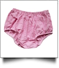 Gingham Diaper Cover - HOT PINK