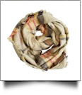 Tartan Plaid Blanket Infinity Scarf Embroidery Blanks - TAN MULTI - CLOSEOUT