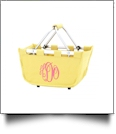 Mini Foldable Market Tote Embroidery Blanks - YELLOW