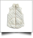 Diamond Quilted Puffy Vest - IVORY - XL - IRREGULAR