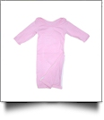 The Coral Palms� EasyStitch Newborn Layette Gown with Invisible Zipper for Easy Embroidery - PINK