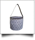 Monogrammable Easter Basket & Halloween Bucket Tote - GRAY QUATREFOIL