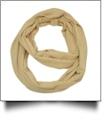 Soft & Cozy Infinity Scarf Embroidery Blanks - CAMEL - CLOSEOUT