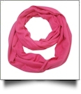 Soft & Cozy Infinity Scarf Embroidery Blanks - HOT PINK