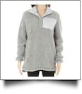 Warm & Cozy Sherpa Pullover - GRAY - CLOSEOUT