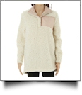 Warm & Cozy Sherpa Pullover - IVORY - CLOSEOUT