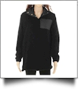 Warm & Cozy Sherpa Pullover - BLACK - CLOSEOUT