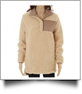 Warm & Cozy Sherpa Pullover - TAN - CLOSEOUT