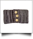 Three Button Blank Crochet Headband Head Wrap - DARK CHOCOLATE - CLOSEOUT