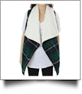 Plaid Vest with Super-Soft Sherpa Lining - NAVY/FOREST - CLOSEOUT