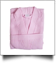 Cotton Waffle Child's Robe Embroidery Blanks - PINK
