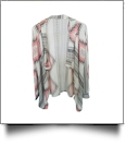 Flowy Open Front Super Soft Aztec Cardigan - PINK - CLOSEOUT