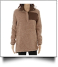 Warm & Cozy Sherpa Pullover - BROWN - CLOSEOUT
