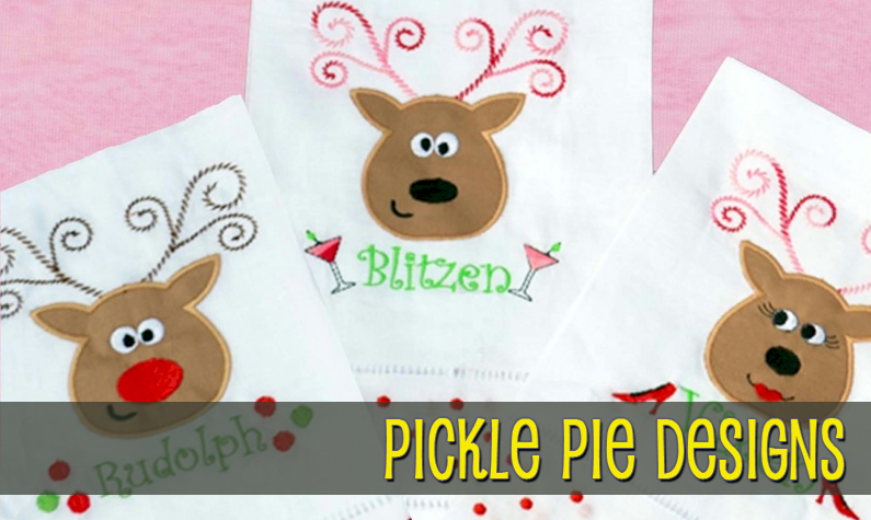 Pickle Pie Embroidery Designs