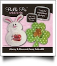 Bunny and Shamrock Candy Cuties Collection Embroidery Designs on CD-ROM by Pickle Pie Designs