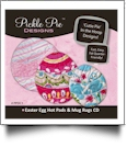 Easter Egg Hot Pads & Mug Rugs Collection Embroidery Designs on CD-ROM by Pickle Pie Designs