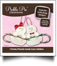 Frosty Friends Candy Cane Holders Collection Embroidery Designs on CD-ROM by Pickle Pie Designs