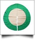 "Simple Elegance 48"" Burlap Christmas Tree Skirt - GREEN TRIM - CLOSEOUT"