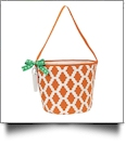 Insulated Bucket Tote with Bottle Opener & Corkscrew - ORANGE - CLOSEOUT