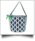 Insulated Bucket Tote with Bottle Opener & Corkscrew - NAVY