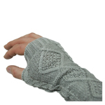 Fingerless Cable Knit Slouch Gloves