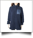 Warm & Cozy Sherpa Pullover - NAVY - CLOSEOUT