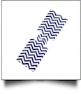 Unsewn 20 Ounce Water Bottle & 24 Ounce Can Coolie Embroidery Blanks - NAVY CHEVRON - CLOSEOUT