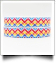 "Rainbow Plaid Chevron Grosgrain Ribbon - 7/8"" x 1 Yards"