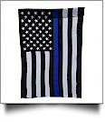 "12"" x 18"" Thin Blue Line + Stars and Stripes Garden Banner Flag"