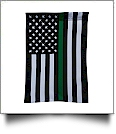 "12"" x 18"" Thin Green Line Garden Banner Flag"