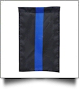 "12"" x 18"" Thin Blue Line Garden Banner Flag"