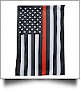 "12"" x 18"" Thin Red Line Garden Banner Flag"