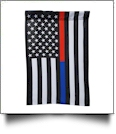 "12"" x 18"" Thin Red/Blue Line Garden Banner Flag"