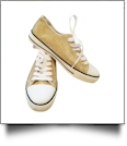 Gold Glitter Lace-Up Low Top Sport Shoes