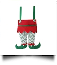 Christmas Elf Pants Stocking - GREEN CHEVRON PANTS - CLOSEOUT
