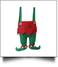 Christmas Elf Pants Stocking - SOLID GREEN PANTS - CLOSEOUT