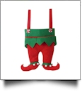Christmas Elf Pants Stocking - SOLID RED PANTS - CLOSEOUT