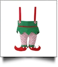 Christmas Elf Pants Stocking - RED CHEVRON PANTS - CLOSEOUT