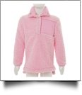 Kid's Warm & Cozy Sherpa Pullover - PINK - CLOSEOUT