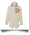 Kid's Warm & Cozy Sherpa Pullover - IVORY - CLOSEOUT