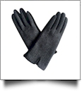 Designer-Look Touchscreen Gloves - HERRINGBONE