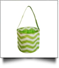 Monogrammable Easter Basket Bucket Tote - LIME CHEVRON