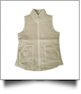 Soft & Luxurious Herringbone Tweed Vest - TAN - CLOSEOUT