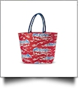 Oversized Sailboat Toile Tote - RED - CLOSEOUT