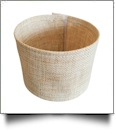 The Coral Palms® Jute Burlap Velcro 30oz Tumbler Coolie Wrap Embroidery Blanks