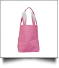 Bright Burlap Bunny Ear Easter Tote - PINK
