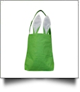 Bright Burlap Bunny Ear Easter Tote - GREEN - CLOSEOUT